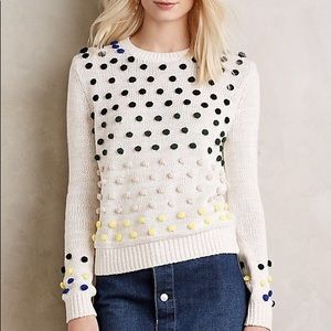 Anthropologie Moth Cotton Blend Candy Dot Pullover